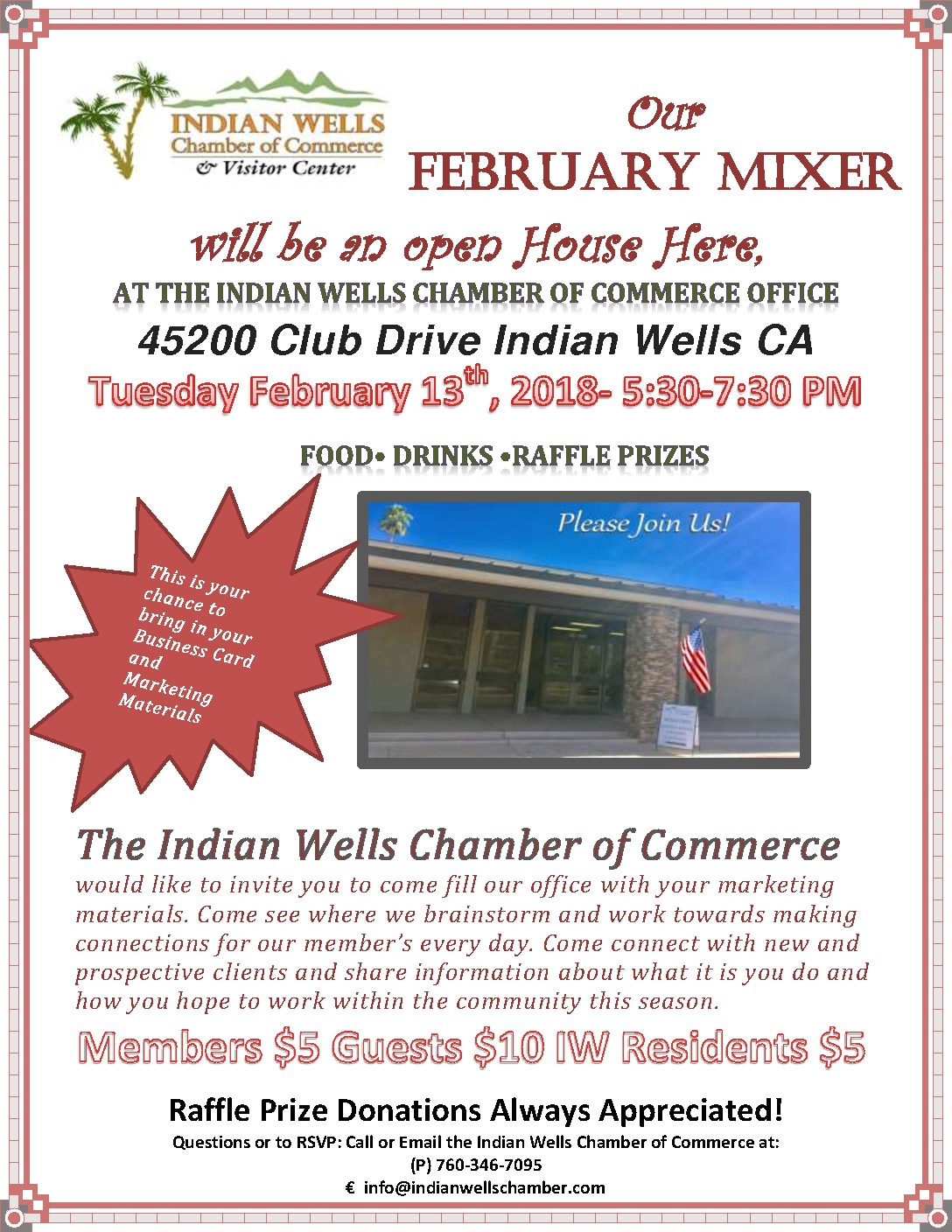 February Mixer at The Indian Wells Chamber Office | Indian Wells