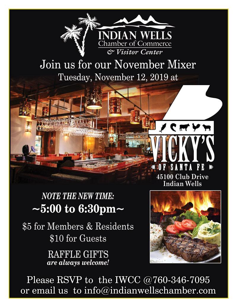 Indian Wells Chamber November Mixer at Vicky's of Santa Fe
